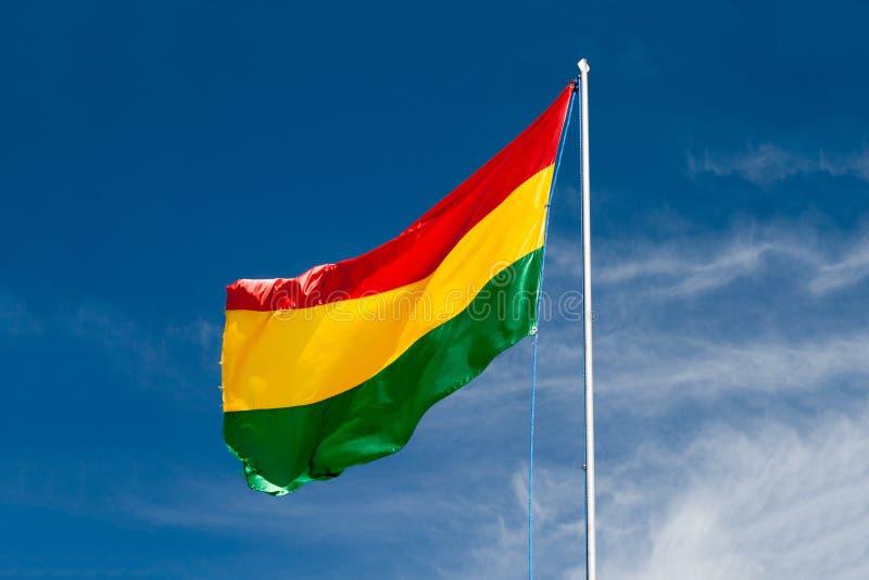De Vlag van Bolivië stock afbeelding