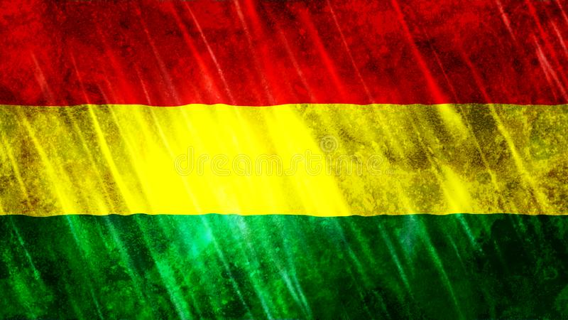De Vlag van Bolivi? stock fotografie