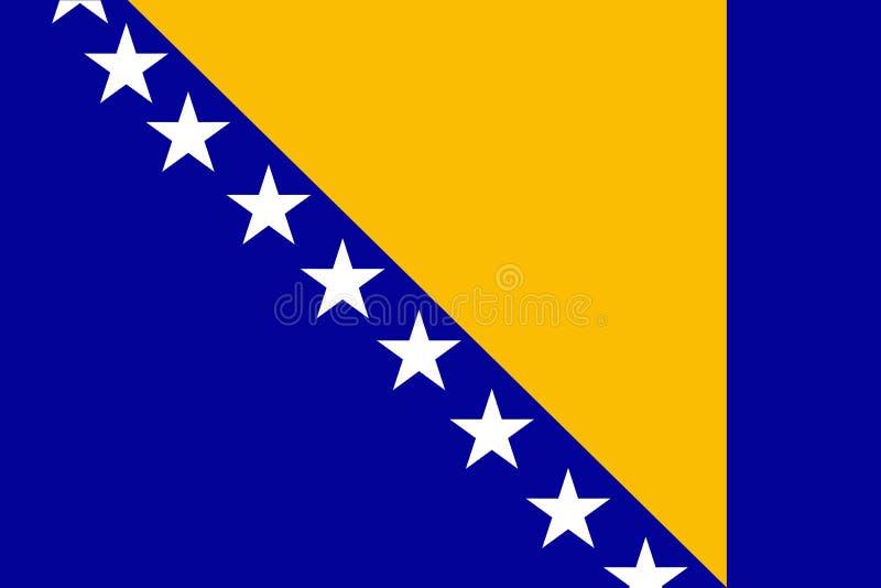 De Vlag van Bosnië-Herzegovina vector illustratie