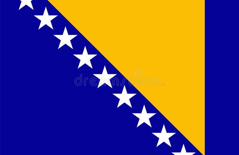 De vlag van Bosnië-Herzegovina royalty-vrije illustratie