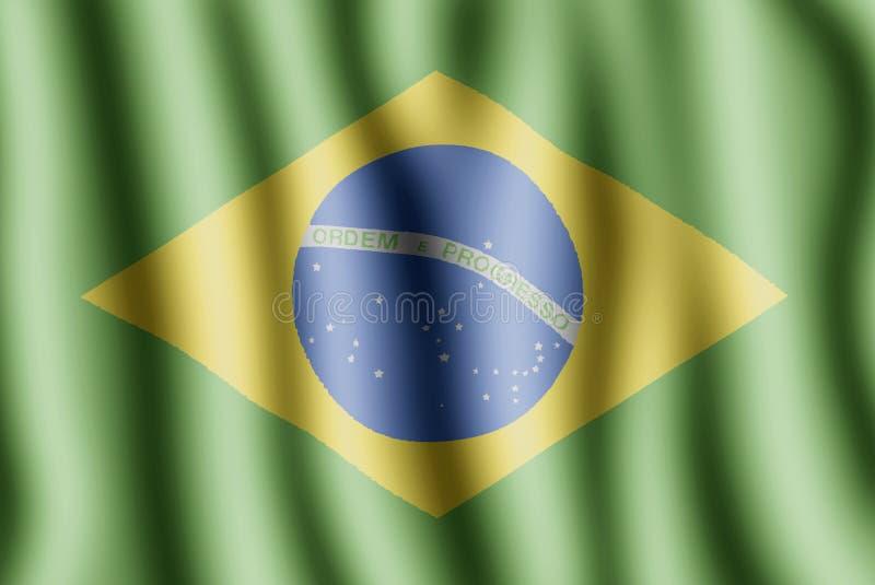 De vlag van Brasilia vector illustratie