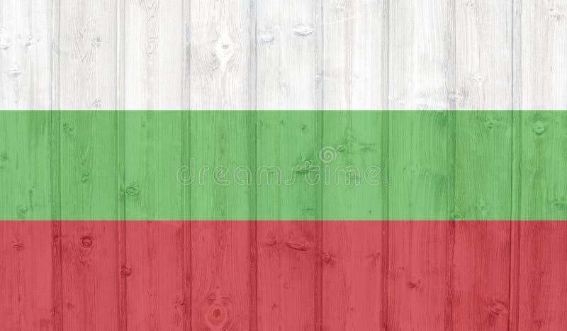 De Vlag van Bulgarije vector illustratie