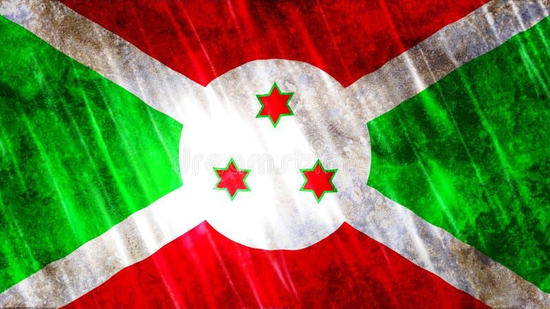De vlag van Burundi stock fotografie