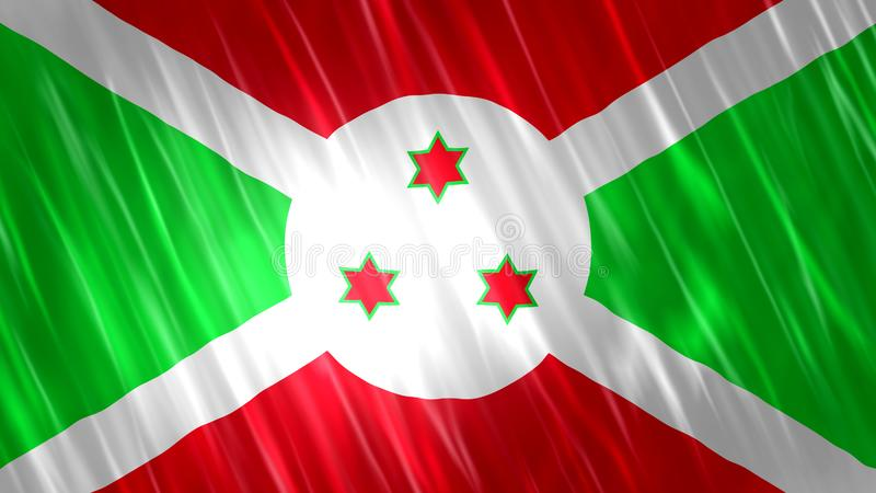 De vlag van Burundi royalty-vrije stock fotografie