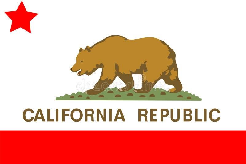 De vlag van Californië vector illustratie