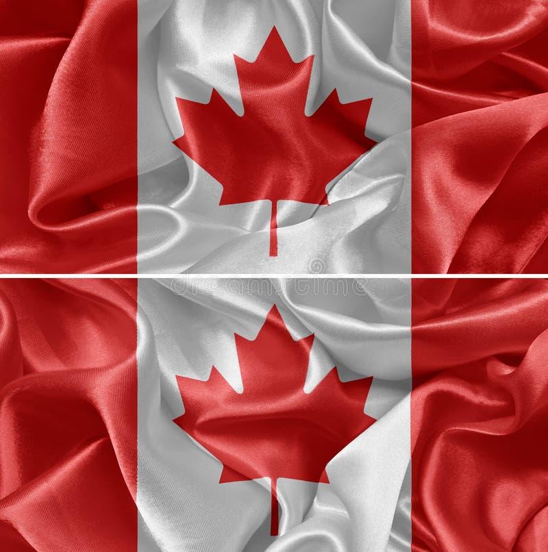 De Vlag van Canada stock foto's