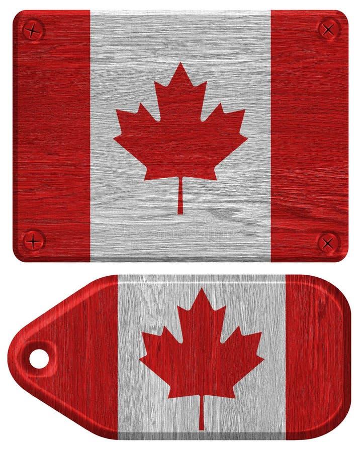 De Vlag van Canada royalty-vrije illustratie