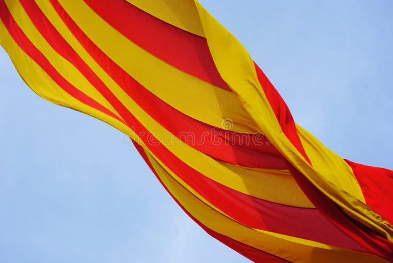 De vlag van Catalunya stock foto's
