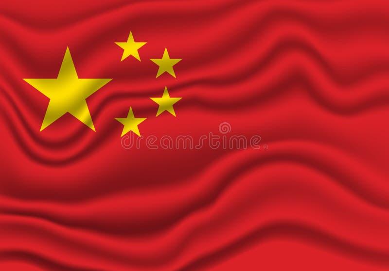 De Vlag van China royalty-vrije illustratie