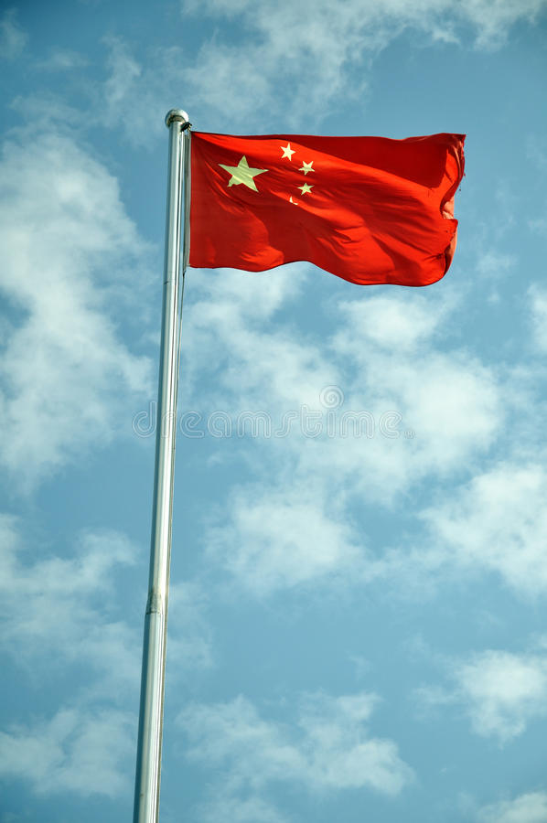 De vlag van China