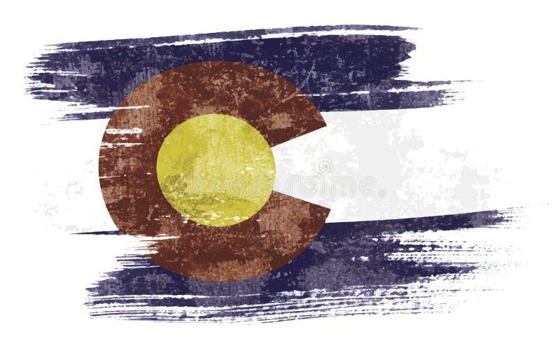 De vlag van Colorado stock illustratie