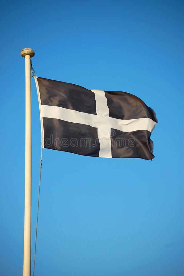 De Vlag van Cornwall van St Piran stock foto