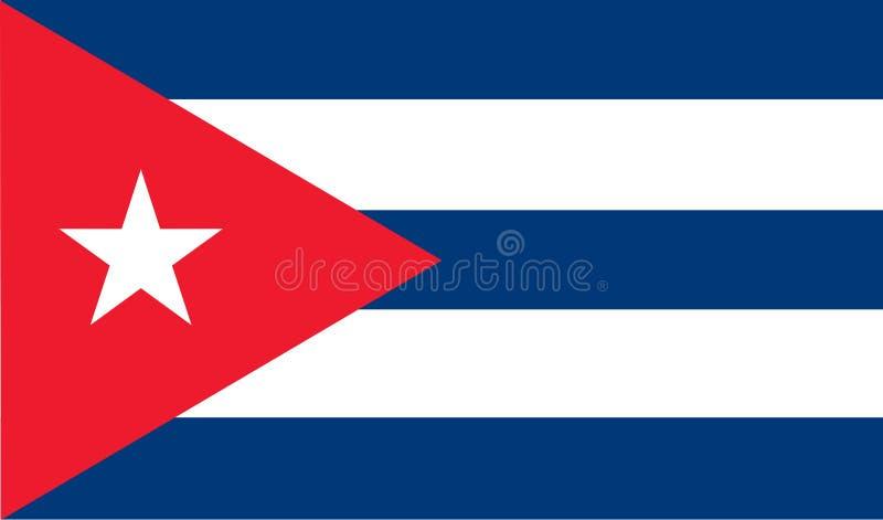 De Vlag van Cuba royalty-vrije illustratie