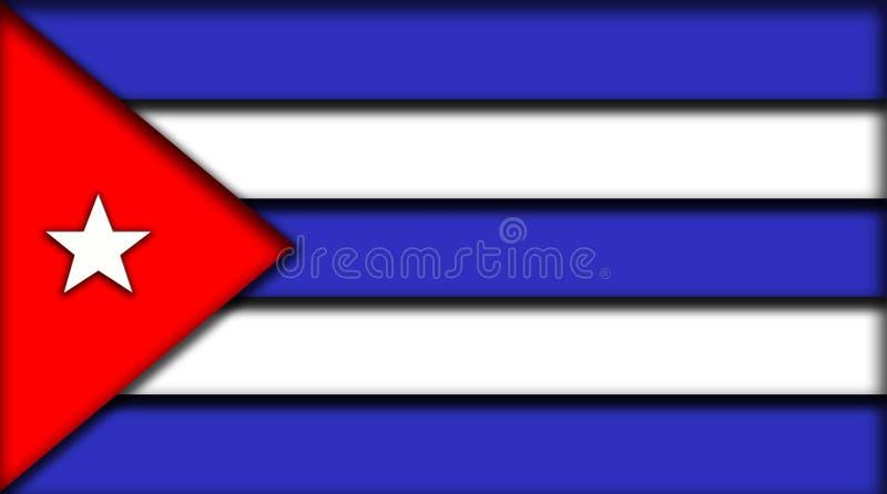 De vlag van Cuba stock illustratie