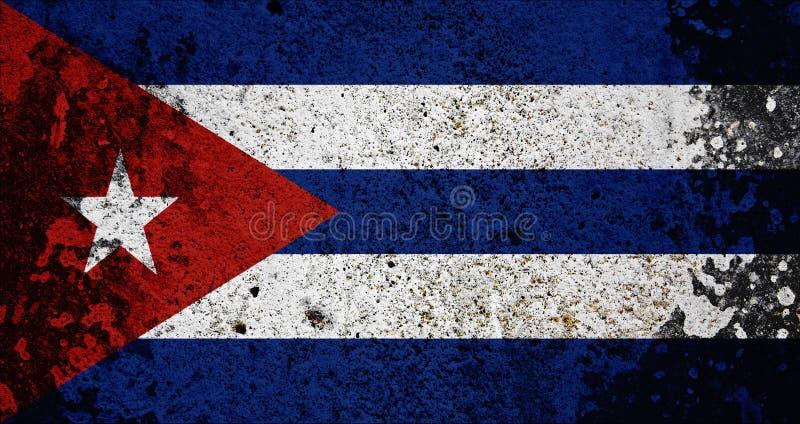 De Vlag van Cuba van Grunge royalty-vrije illustratie