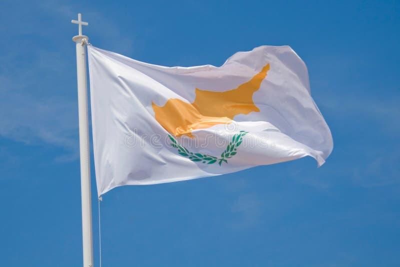De vlag van Cyprus royalty-vrije stock foto's