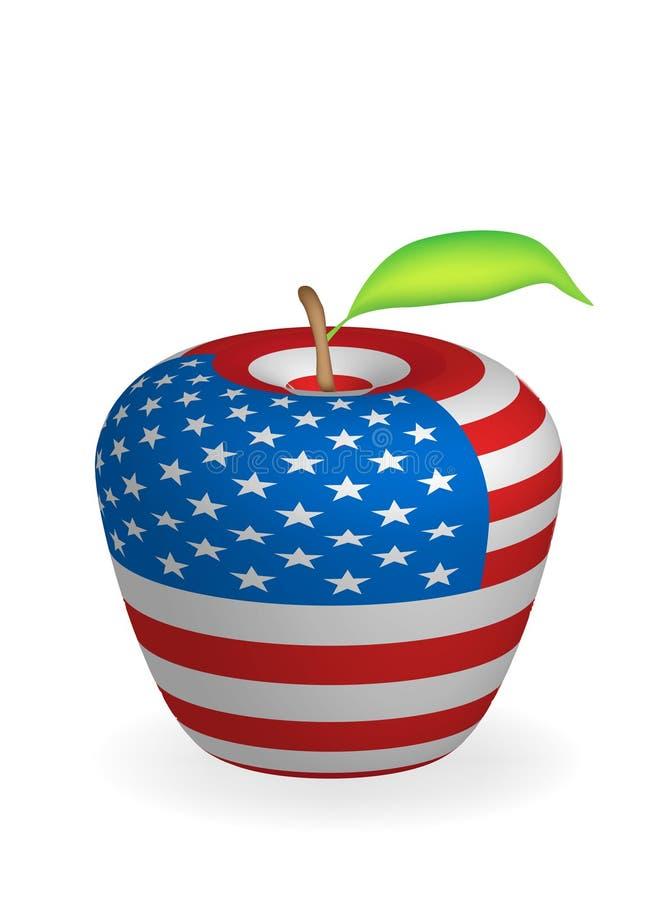 De vlag van de appel royalty-vrije illustratie