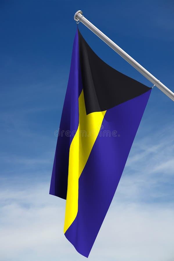 De Vlag van de Bahamas stock afbeeldingen
