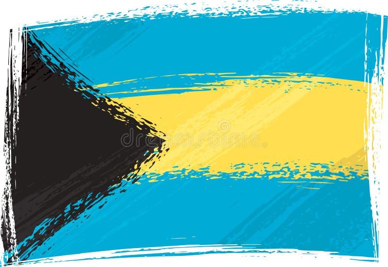 De vlag van de Bahamas van Grunge royalty-vrije illustratie