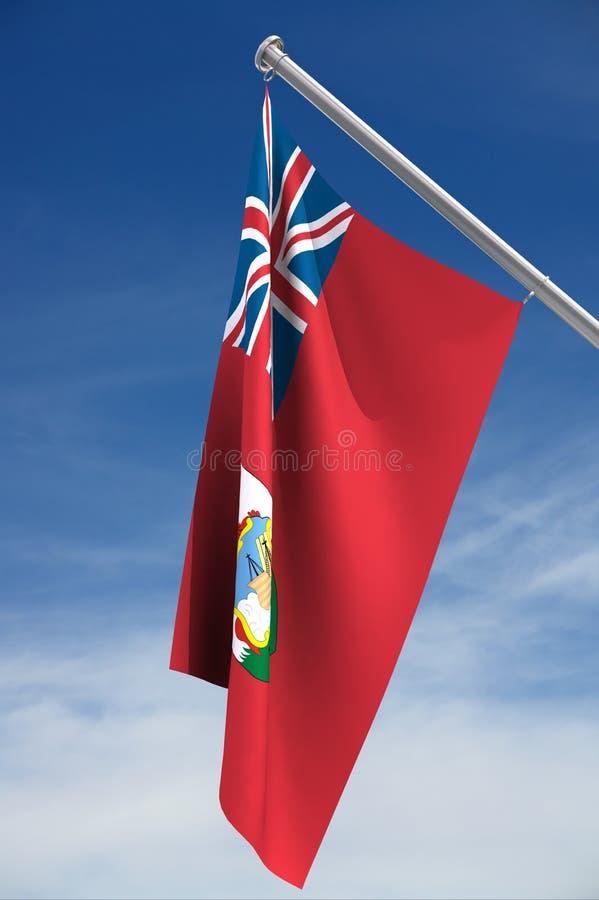 De vlag van de Bermudas vector illustratie