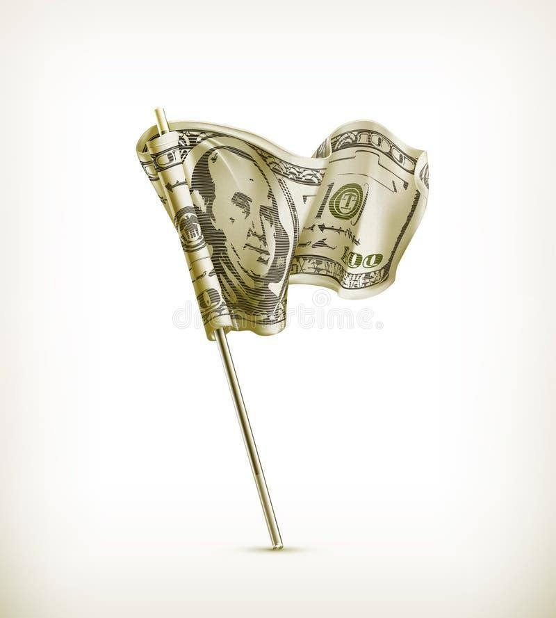 De vlag van de dollar stock illustratie