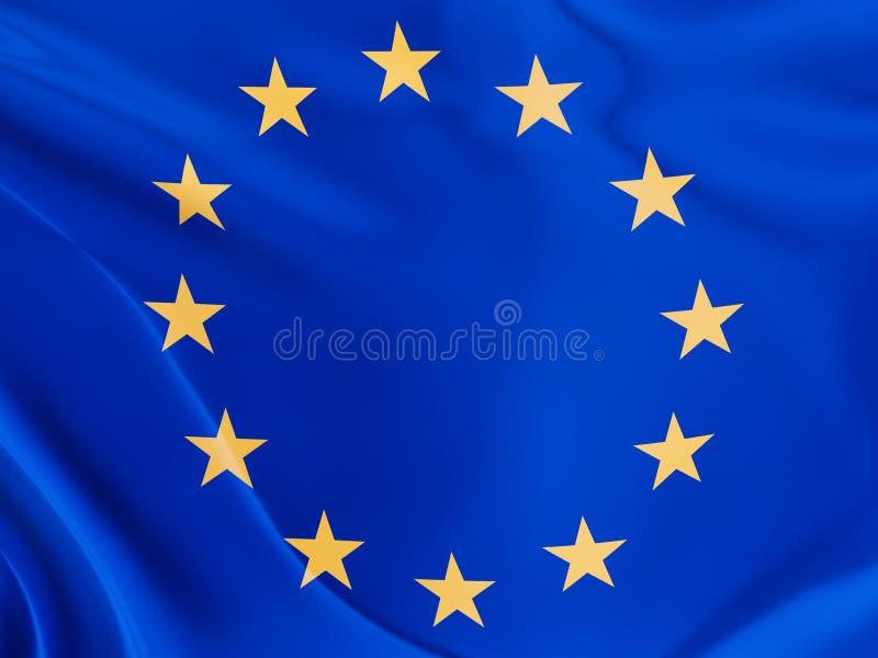 De vlag van de EU royalty-vrije illustratie