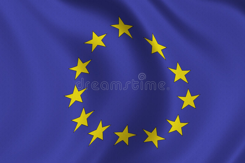 De Vlag van de EU stock afbeeldingen