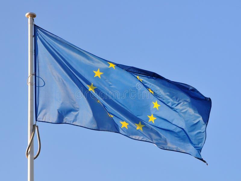 De vlag van de EU van de zijde royalty-vrije stock afbeeldingen