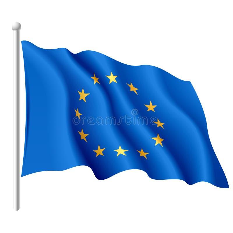 De vlag van de Europese Unie. Vector. royalty-vrije illustratie