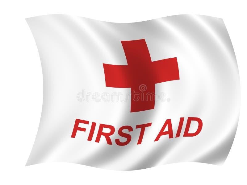 De vlag van de gezondheidszorg royalty-vrije illustratie