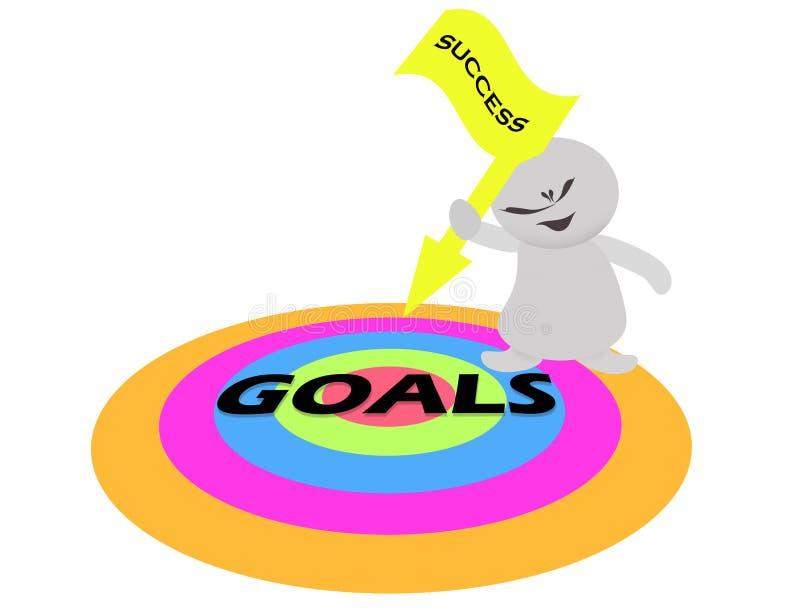 De vlag van de het succespijl van de mensenholding en doelstellingen doelstellingen vector illustratie