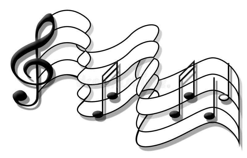 De Vlag van de muzieknota stock foto