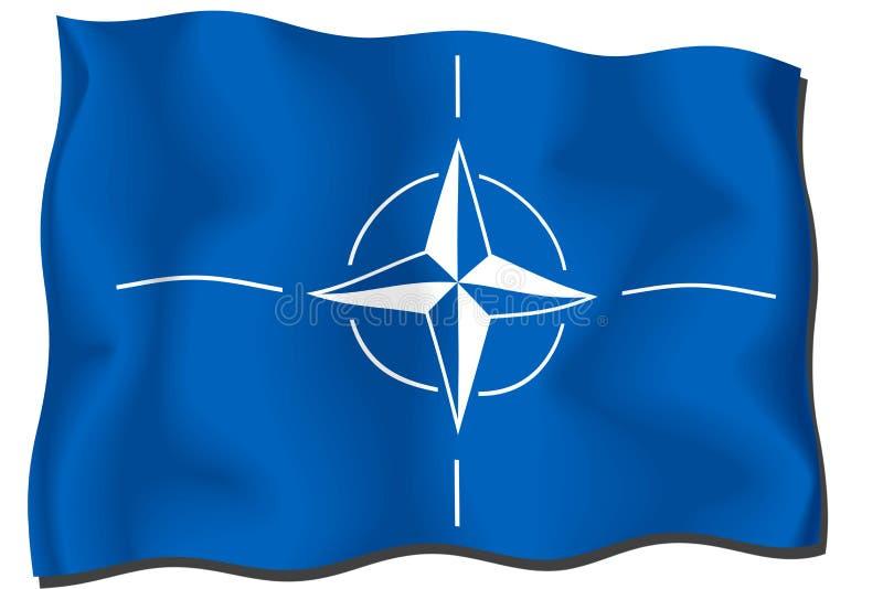 De Vlag van de NAVO stock illustratie