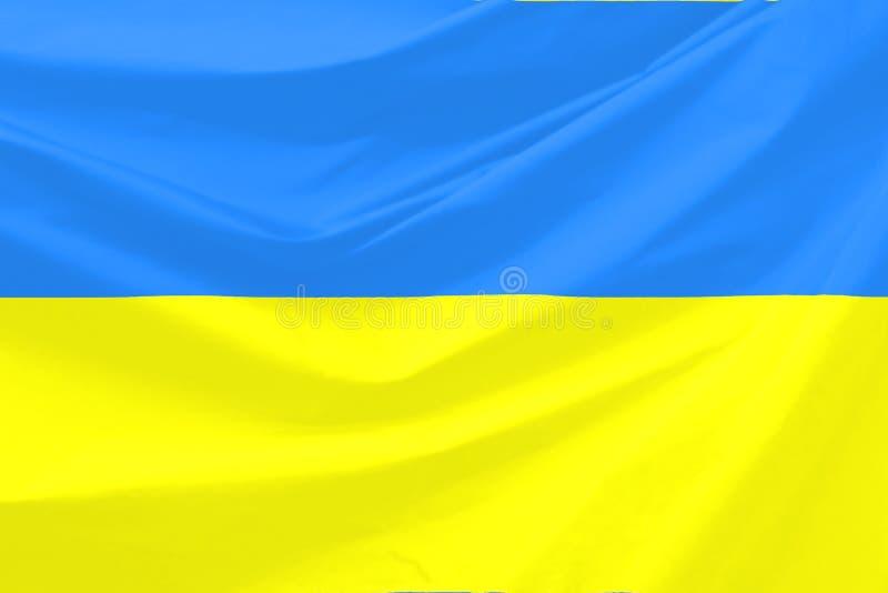 De Vlag van de Oekraïne royalty-vrije illustratie