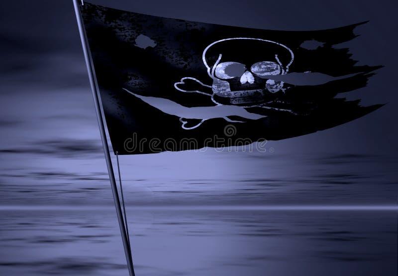 De vlag van de piraat stock illustratie