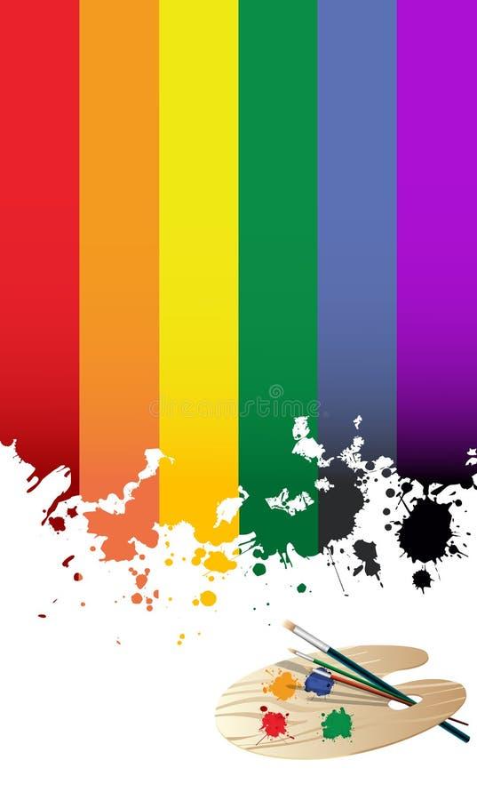 De vlag van de regenboog vector illustratie