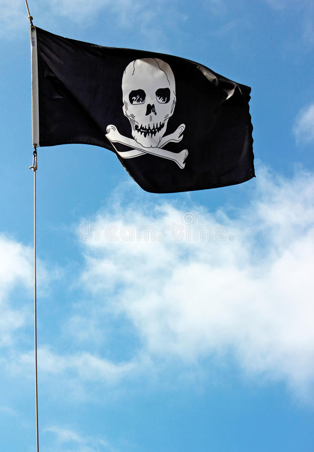 De Vlag van de schedel royalty-vrije stock foto