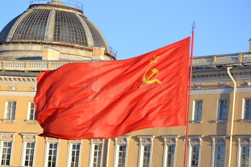 De vlag van de Sovjetunie royalty-vrije stock fotografie