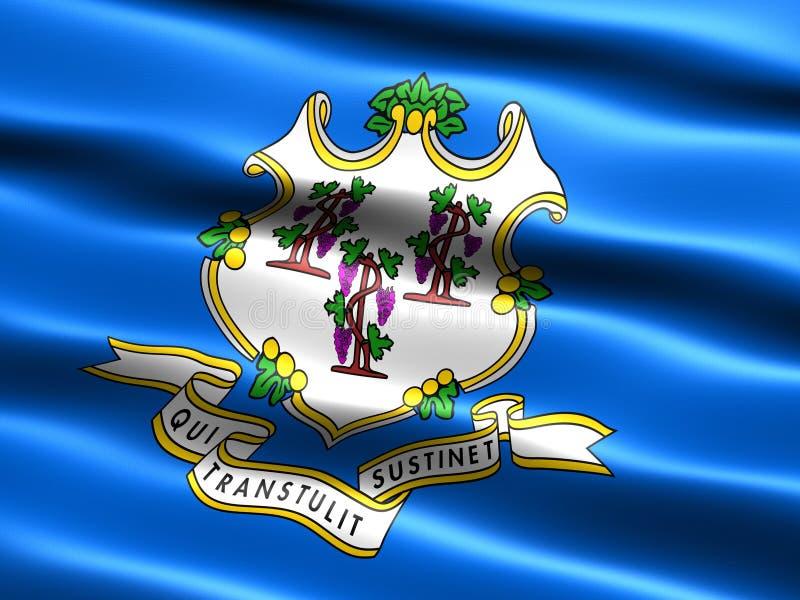 De vlag van de staat van Connecticut vector illustratie