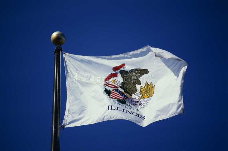 De Vlag Van De Staat Van Illinois Stock Afbeelding
