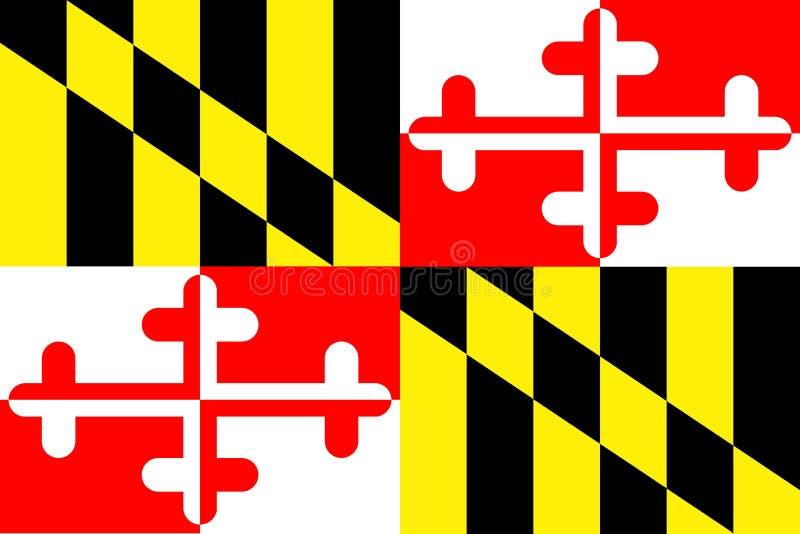 De Vlag van de Staat van Maryland royalty-vrije illustratie