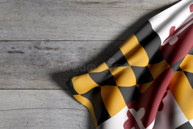 De Vlag van de Staat van Maryland vector illustratie