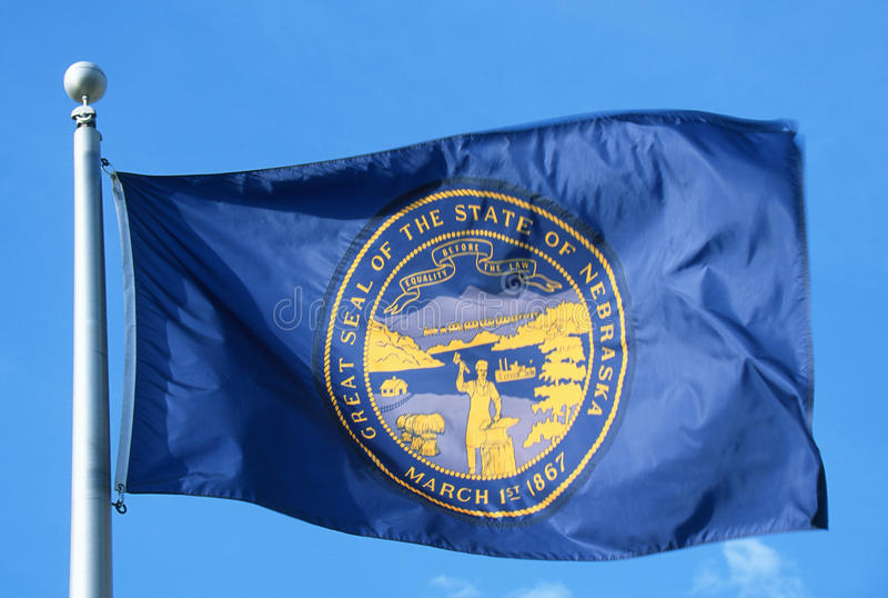 De Vlag van de staat van Nebraska stock foto