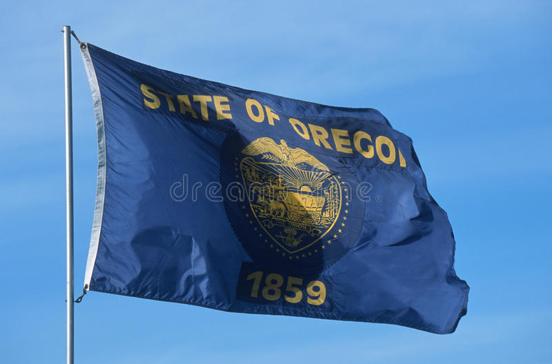 De Vlag van de staat van Oregon royalty-vrije stock foto