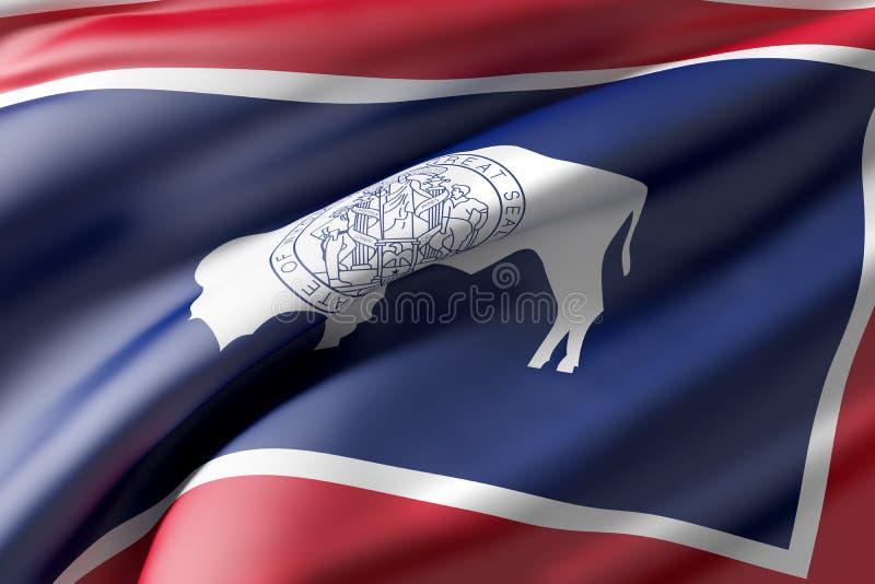 De vlag van de Staat van Wyoming vector illustratie