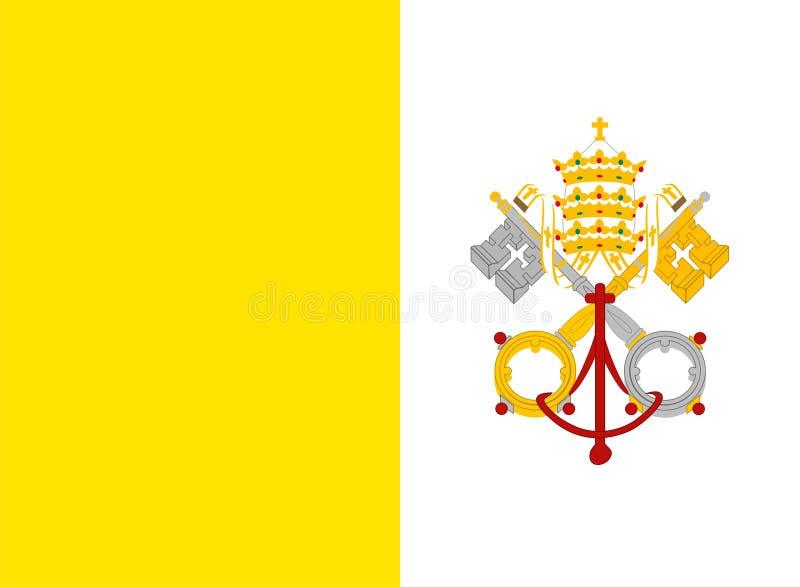 De vlag van de Stad van Vatikaan royalty-vrije illustratie