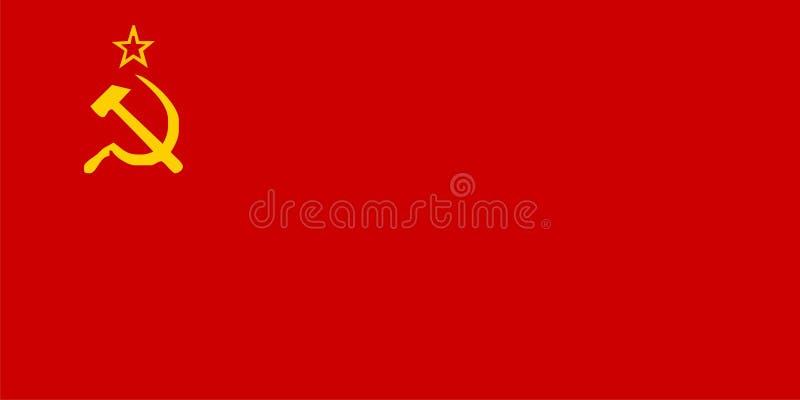 De vlag van de USSR vector illustratie
