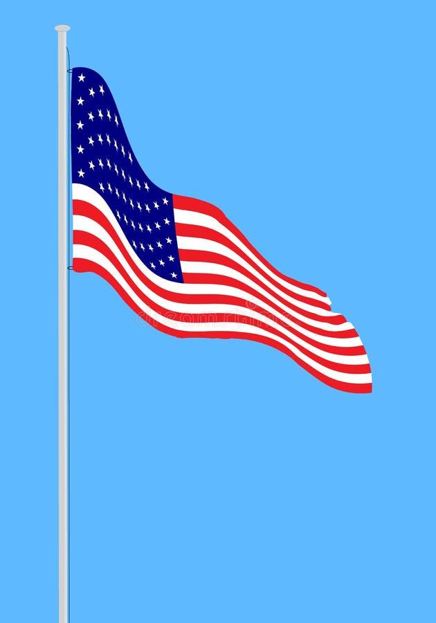 De vlag van de V stock illustratie