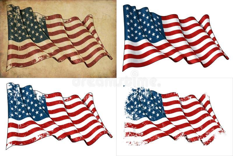 De Vlag van de V.S. royalty-vrije illustratie