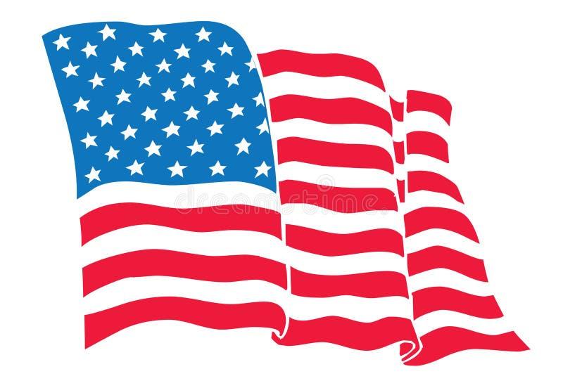 De Vlag van de V.S. stock illustratie